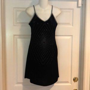 Minerva black velvet slip dress
